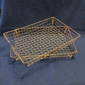Vintage Bar Bee Wire Paper Trays